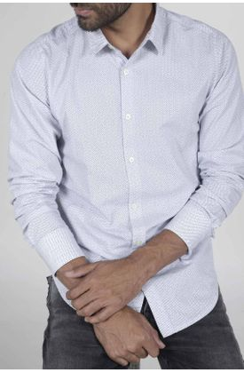 Camisa-para-hombre-Tennis-estampada-y-manga-larga