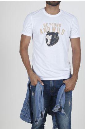 Tshirt-para-hombre-Tennis-con-estampado-be-young-and-wild