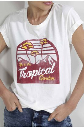 Tshirt-para-mujer-Tennis-con-estampado-life-in-the-tropical-garden