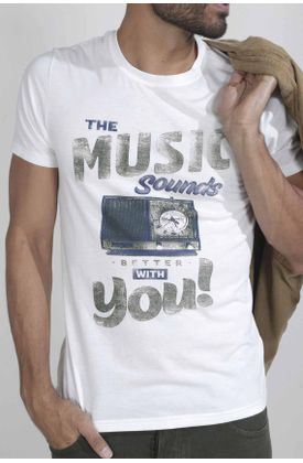 Tshirt-para-hombre-Tennis-con-estampado-the-music-sounds