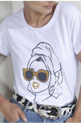 Tshirt-para-mujer-Tennis-con-estampado-sunglasses-girl