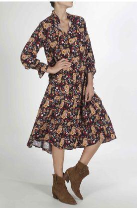 Vestido-para-mujer-Tennis-largo-y-estampado-de-flores