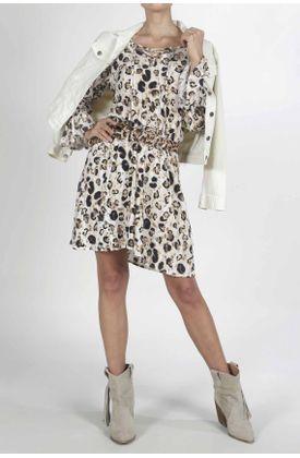 Vestido-para-mujer-Tennis-corto-y-estampado-animal-print