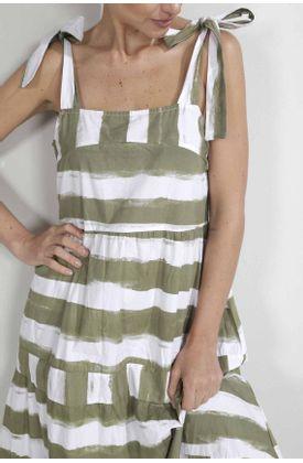 Vestido-para-mujer-Tennis-largo-y-estampado-de-rayas