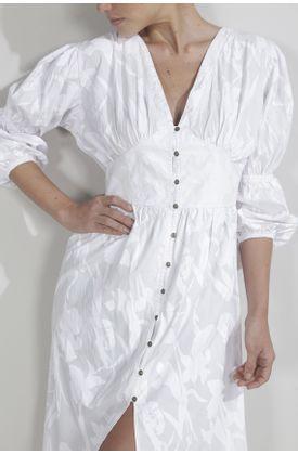 Vestido-para-mujer-Tennis-largo-y-estampado-de-flores-blancas