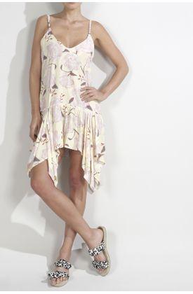 Vestido-para-mujer-Tennis-medio-y-estampado-de-flores-grandes