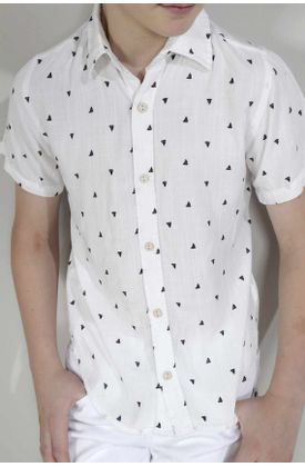 Camisa-para-niño-Tennis-estampada-y-manga-corta