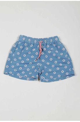 Pantaloneta-de-baño-para-niño-Tennis-plano-y-estampado
