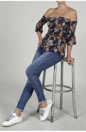 Camisa-para-mujer-TopMark-estampada-y-manga-corta