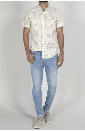 Camisa-para-hombre-Tennis-estampada-y-manga-corta