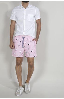 Pantaloneta-de-baño-para-hombre-Tennis-plana-y-estampado-garzas