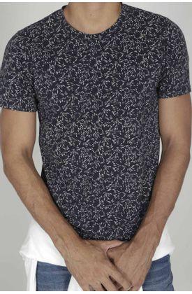 Tshirt-para-hombre-Tennis-con-estampado-hojas-arte