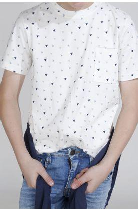 Tshirt-para-niño-Tennis-estampado-de-triangulos