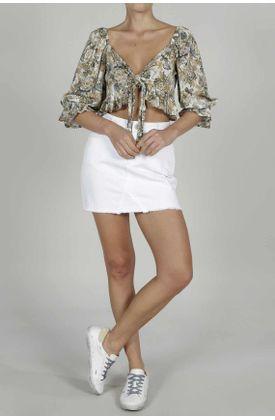 Camisa-para-mujer-TopMark-estampada-y-manga-3-4