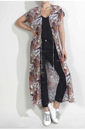 Kimono-para-mujer-TopMark-estampado-de-hojas