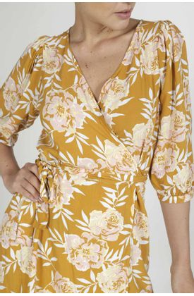 Vestido-para-mujer-Tennis-corto-y-estampado-de-flores