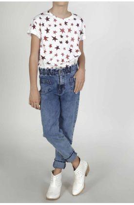Jean-para-niña-Tennis-silueta-moda-plano-y-cintura-resortada