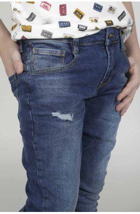 Jean-para-niño-Tennis-silueta-slim-plano-y-cintura-con-pretina