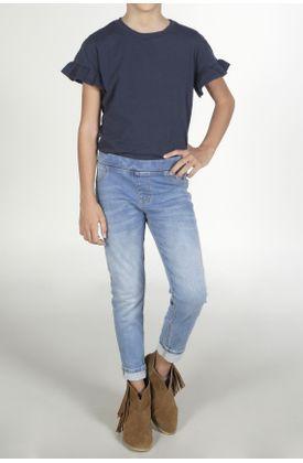 Jean-para-niña-Tennis-silueta-super-slim-plano-y-cintura-con-pretina