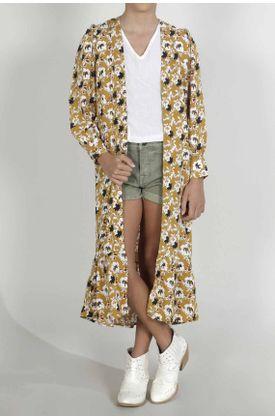 Kimono-para-niña-Tennis-estampado-de-flores-pequeñas