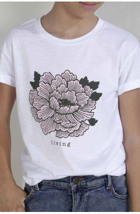 Tshirt-para-niña-Tennis-estampado-de-living
