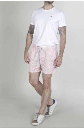 Pantaloneta-de-baño-para-hombre-Tennis-plana-y-estampado-de-flamingos