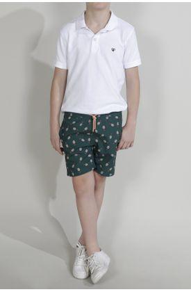 Pantaloneta-de-baño-para-niño-Tennis-plana-y-estampado-de-piñas