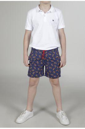 Pantaloneta-de-baño-para-niño-Tennis-plana-y-estampada