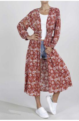 Kimono-para-mujer-TopMark-estampado-de-flores