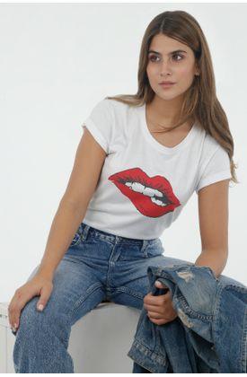 Tshirt-para-mujer-tennis-tshirt-estampado-lips