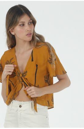 Camisa-para-mujer-Tennis-con-estampado-y-manga-corta