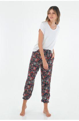 Conjunto-pijama-para-mujer-TopMark-con-estampado