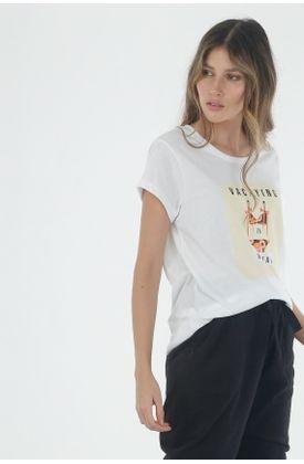 Tshirt-para-mujer-TopMark-con-estampado-de-vacaying-in-my-head