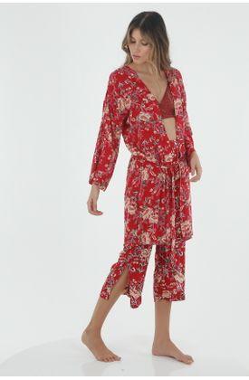 Pijama-para-mujer-Tennis-bata-con-estampado-de-flores