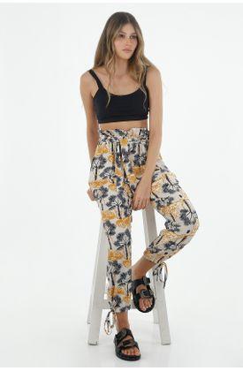 Pantalon-para-mujer-Tennis-con-estampado-de-tigres-y-palmeras