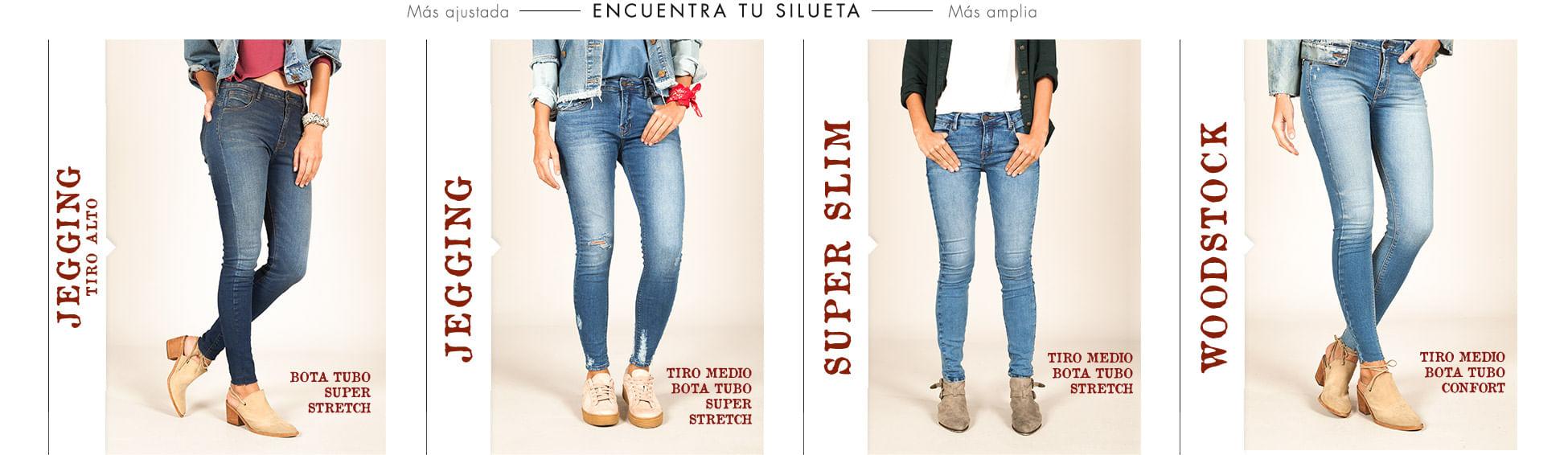 Siluetas de jeans para mujer