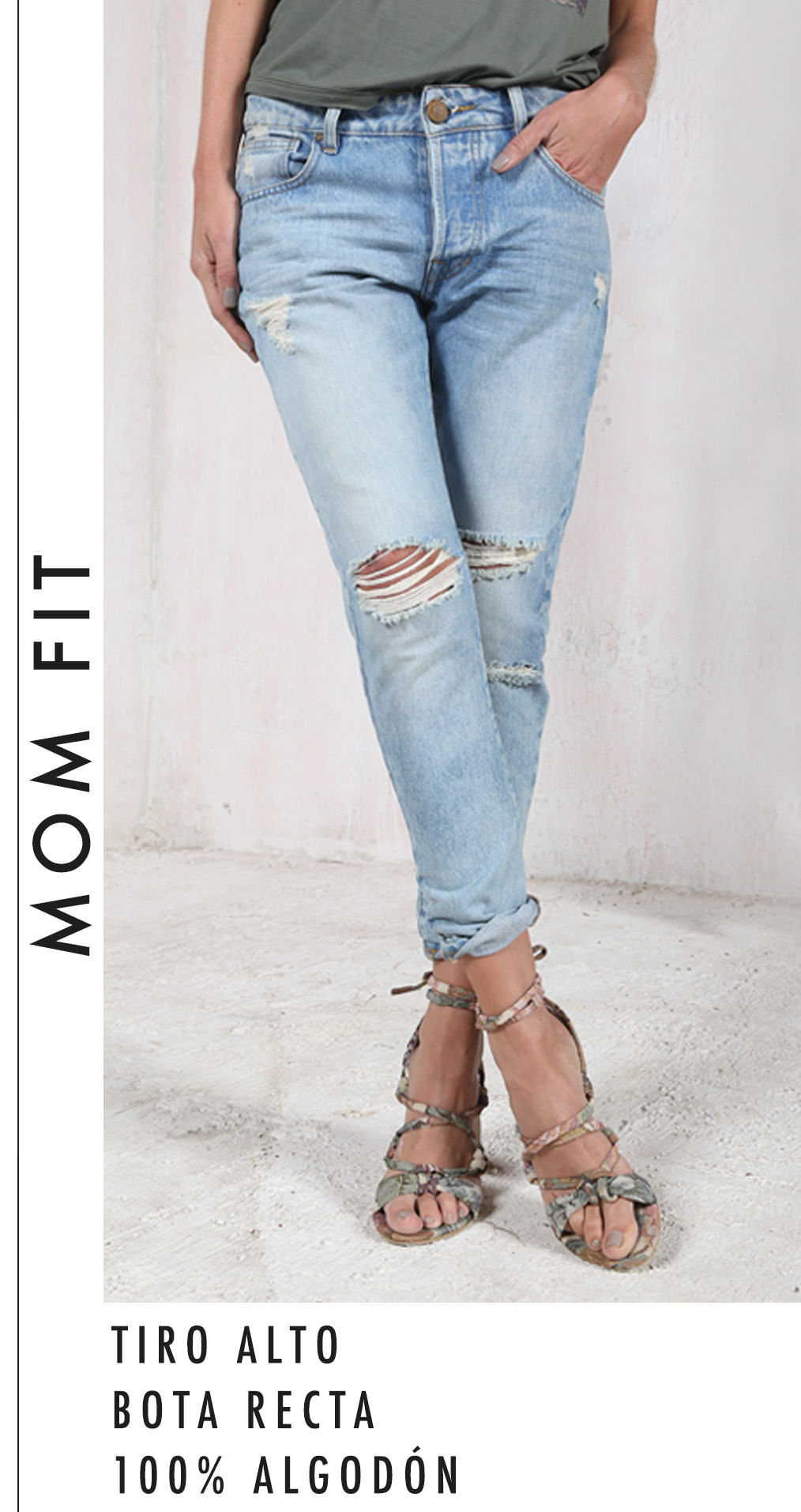 Jeans siluetas Mujer - Mom Fit